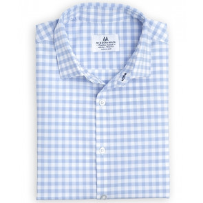 Hampton Shirt - Blue Large Gingham - Standard Fit (MM-5200)