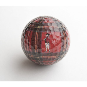 Go Low Golf Tartan Plaid Golf Ball