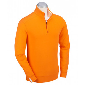Men's Leaderboard Pima Cotton Quarter-Zip Long Sleeve Pullover (BJ480402)