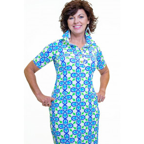 Austin Dress Fleur Royal Turquoise (AUS )