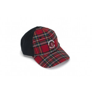 Black Plaid Trucker Cap (26768)