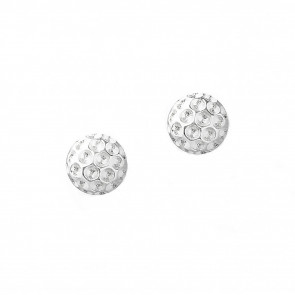 Golf Goddess Golf Ball Bead Earrings - Silver