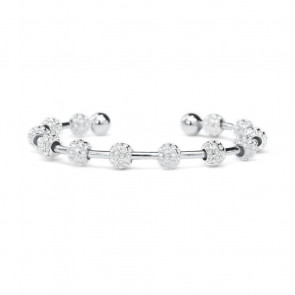 Golf Goddess Golf Ball Bead Stroke Counter Bracelet - Silver