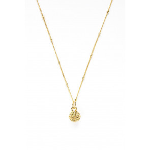 Golf Goddess Golf Ball Bead Necklace - Gold