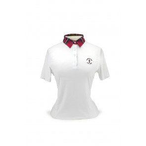 Women's Color Block Plaid polo (26550)