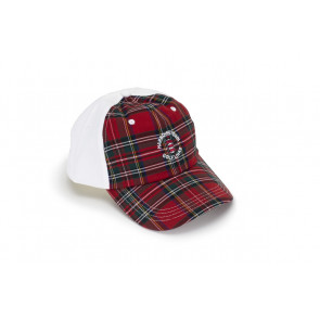 White Plaid Trucker Cap (26772)
