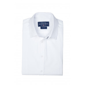 "Stockton ""Blue Label"" Shirt - White Solid - Trim Fit (BL-L-1004TRIM)"