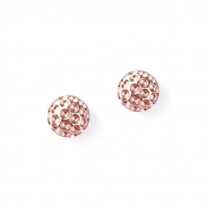 Golf Goddess Golf Ball Bead Earrings - Rose Gold