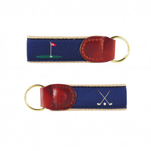 Golf Ribbon Key Fob (4005)