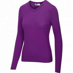 Women's Lurex Tipped V-Neck Sweater (G2F20S750)