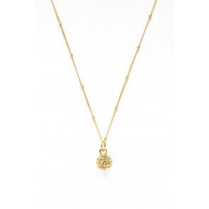 Golf Goddess Golf Ball Bead Necklace - Gold